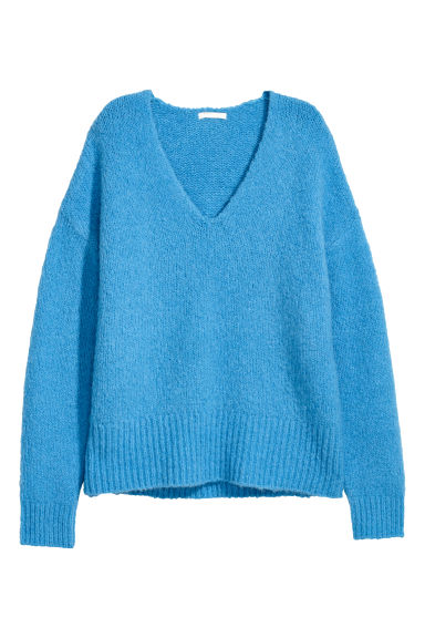 Knitted jumper - Light blue - Ladies | H&M GB