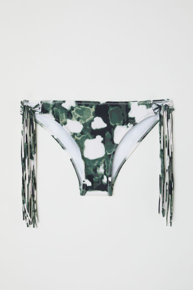 Cheeky bikini bottoms - Green/Patterned - Ladies | H&M