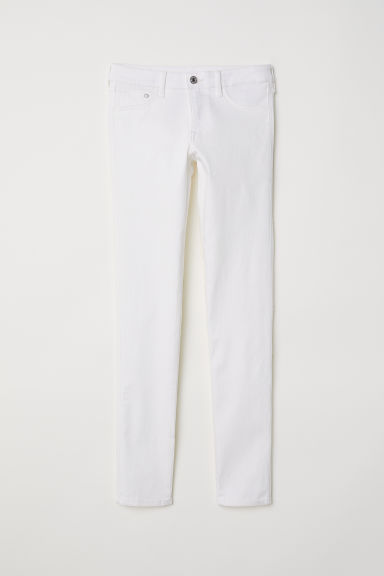 Skinny Low Jeans - White -  | H&M