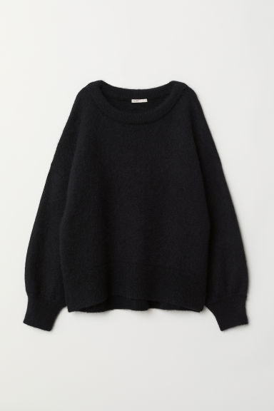 Knit Mohair-blend Sweater - Black - Ladies | H&M US