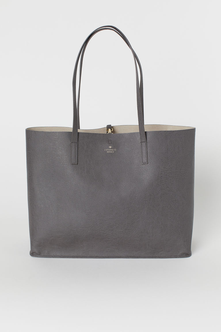 Shopper - Dunkelgrau -  | H&M AT