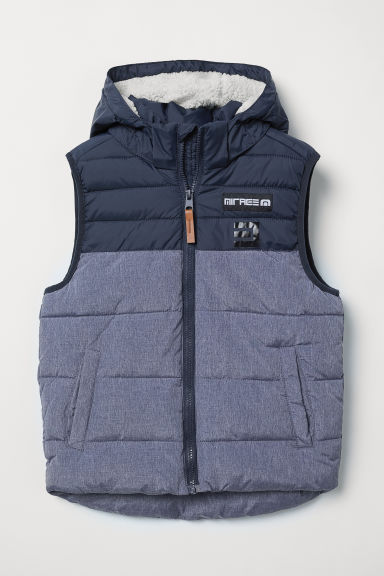 Padded gilet - Dark blue - Kids | H&M CN