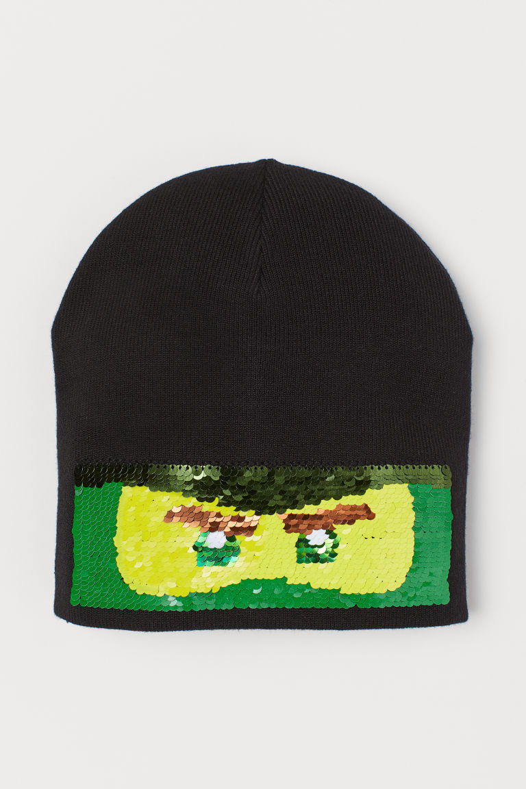 Hat with reversible sequins - Black/Ninjago - Kids | H&M