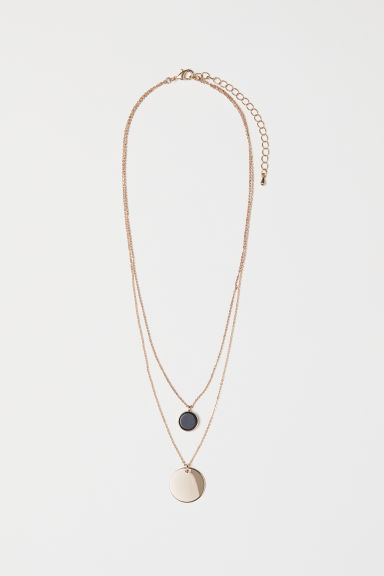 Collana a due fili - Dorato/nero - DONNA | H&M IT