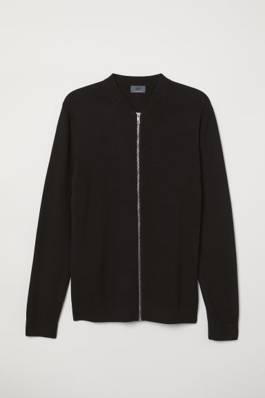 Long-staple cotton cardigan - Black - Men | H&M CN