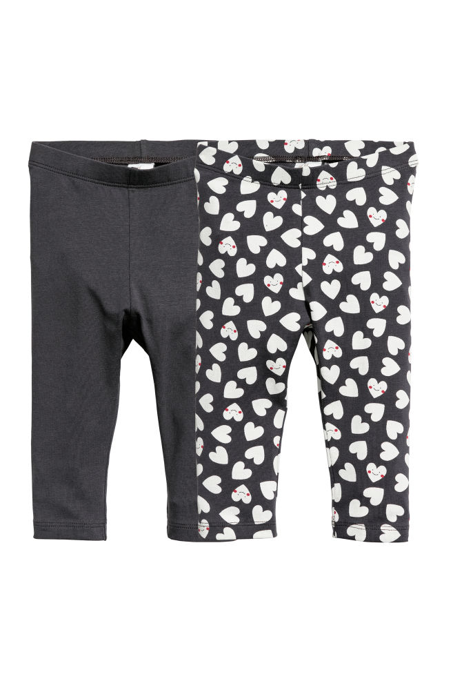 2 pack leggings dark grey hearts kids h m cn