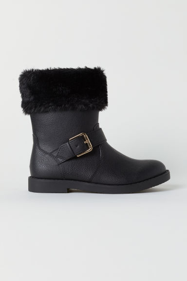 Pile-lined boots - Black - Kids | H&M
