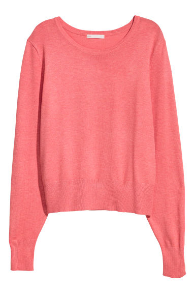Fine-knit jumper - Pink - Ladies | H&M GB