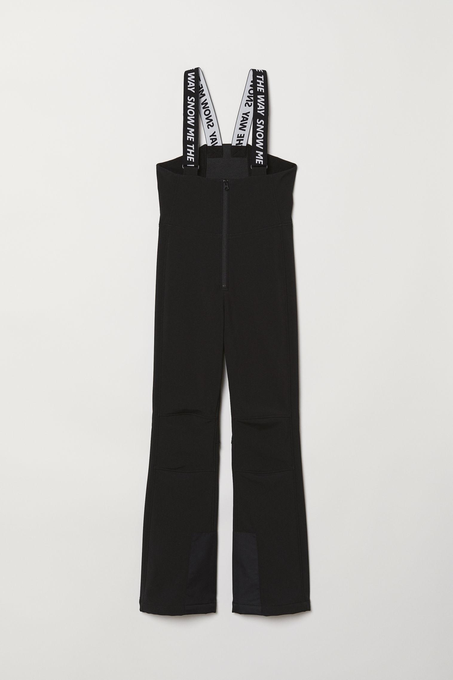 67483d9e5895 Ski Pants with Suspenders - Black - Ladies