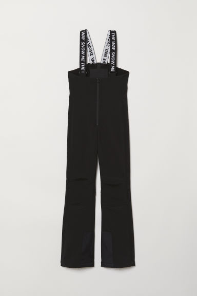 Pantaloni da sci con bretelle - Nero - DONNA | H&M IT