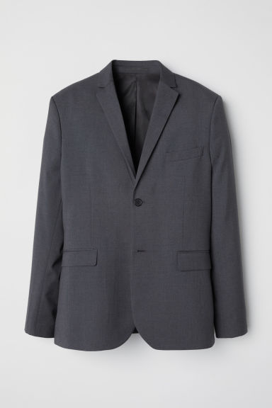 Blazer Slim fit - Grigio scuro mélange - UOMO | H&M IT