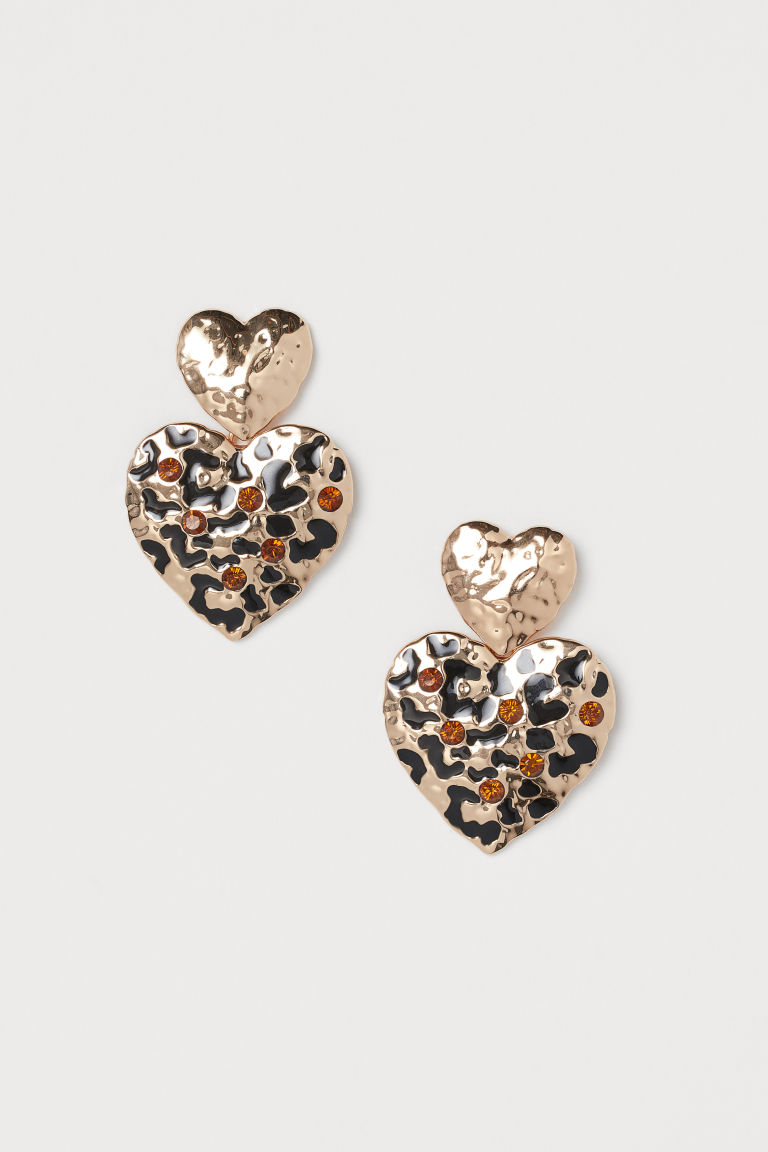 Heart-shaped Earrings - Gold-colored -  | H&M US