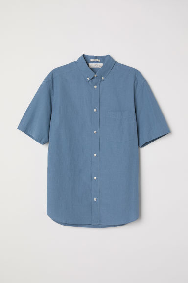 Poplin shirt Regular fit - Blue -  | H&M CN