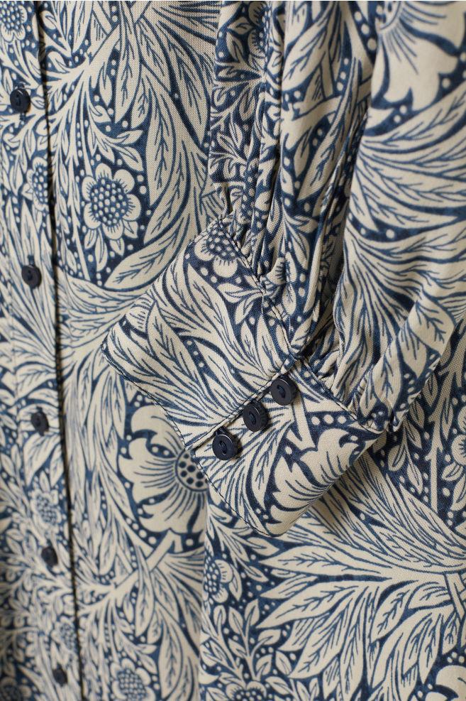 Longue robe chemise - Bleu/motif - FEMME | H&M FR 6