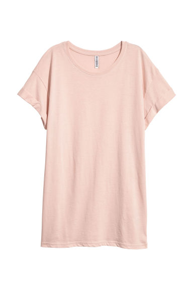 Long T-shirt - Old rose - Ladies | H&M CN