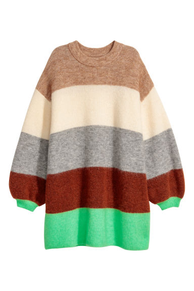 Pull oversize - Beige clair/color block -  | H&M BE