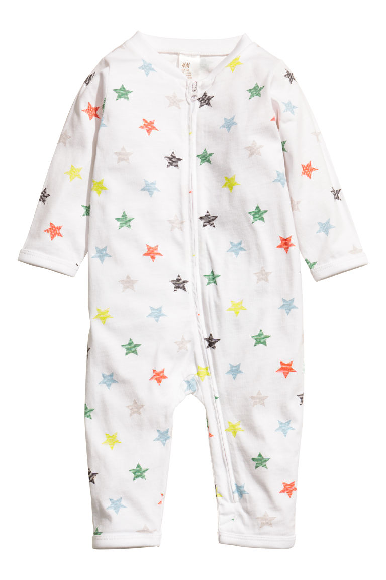 2-pack jersey pyjamas - Mint green/Stars - Kids | H&M
