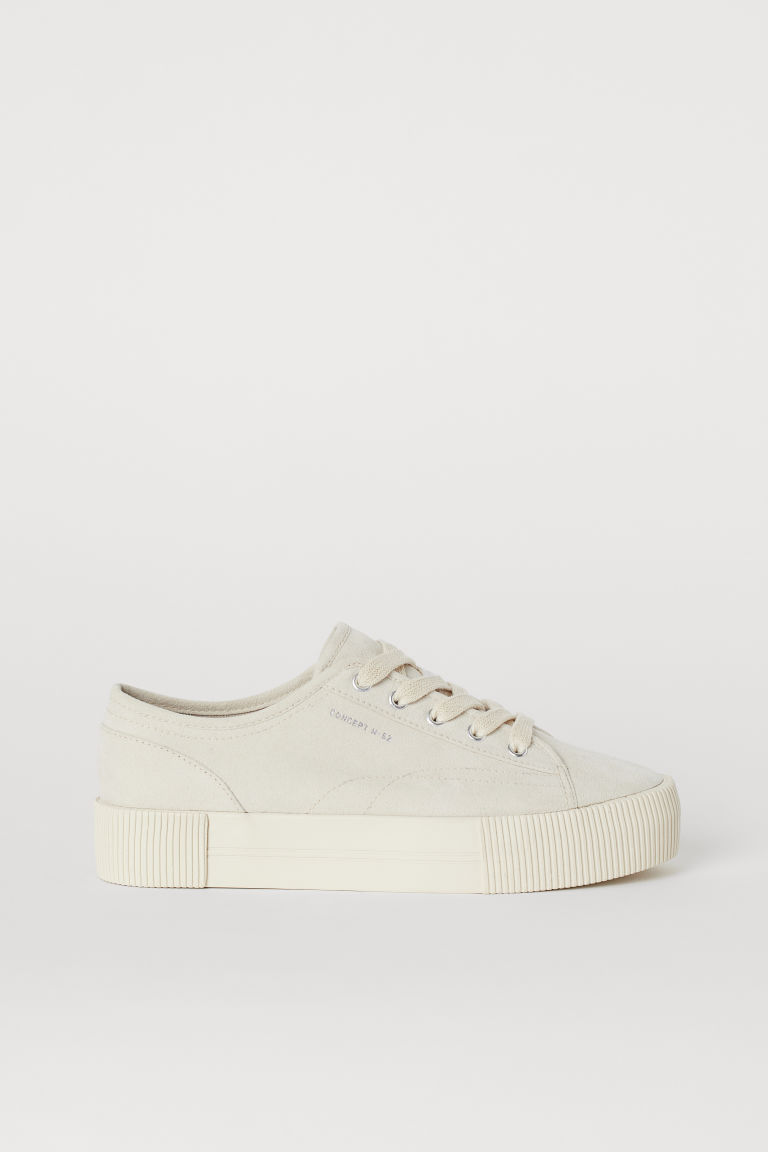 Platform trainers - Light beige -  | H&M GB