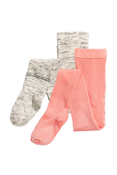 2-pack tights - Coral - Kids | H&M CN