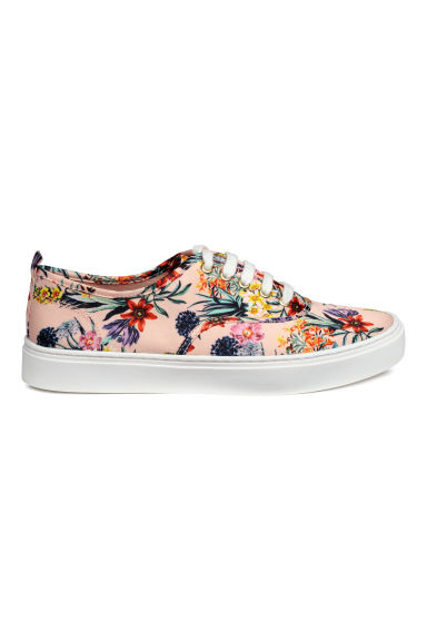 Trainers - Powder pink/Floral - Ladies | H&M