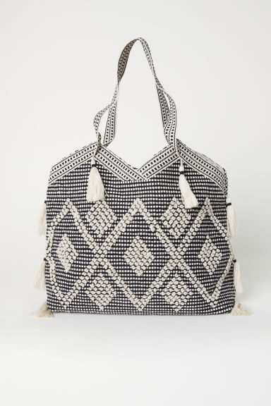 Tasselled shopper - Black - Ladies | H&M CN