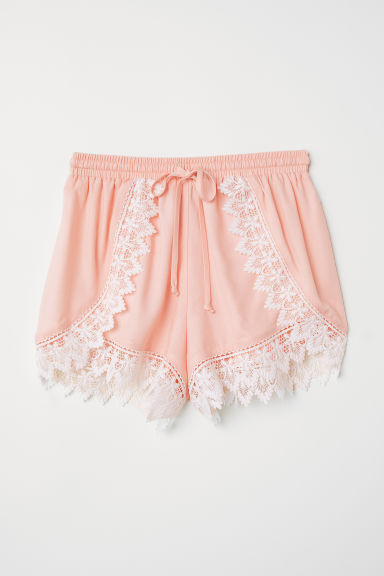 Short met kant - Lichtroze -  | H&M BE