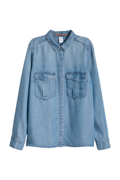 Lyocell utility shirt - Denim blue - Ladies | H&M