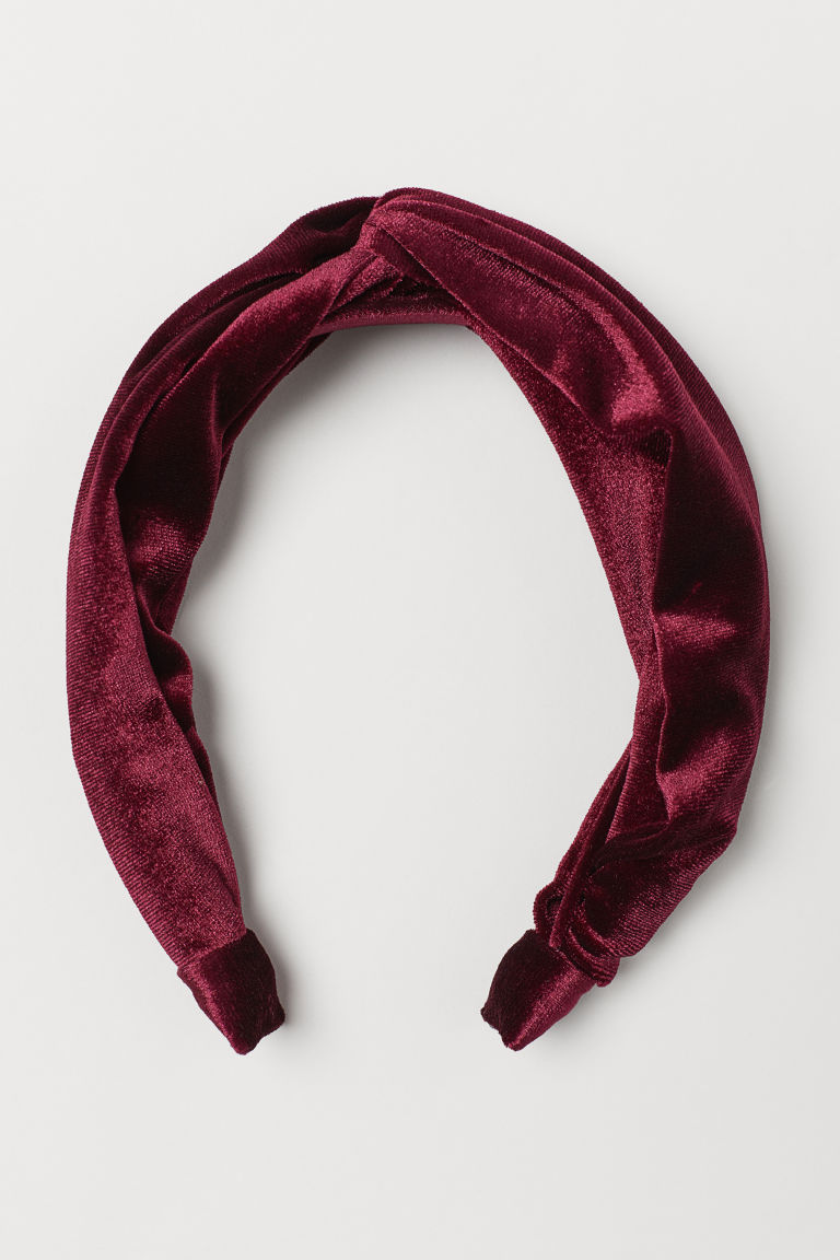 Velvet Alice band - Burgundy -  | H&M GB