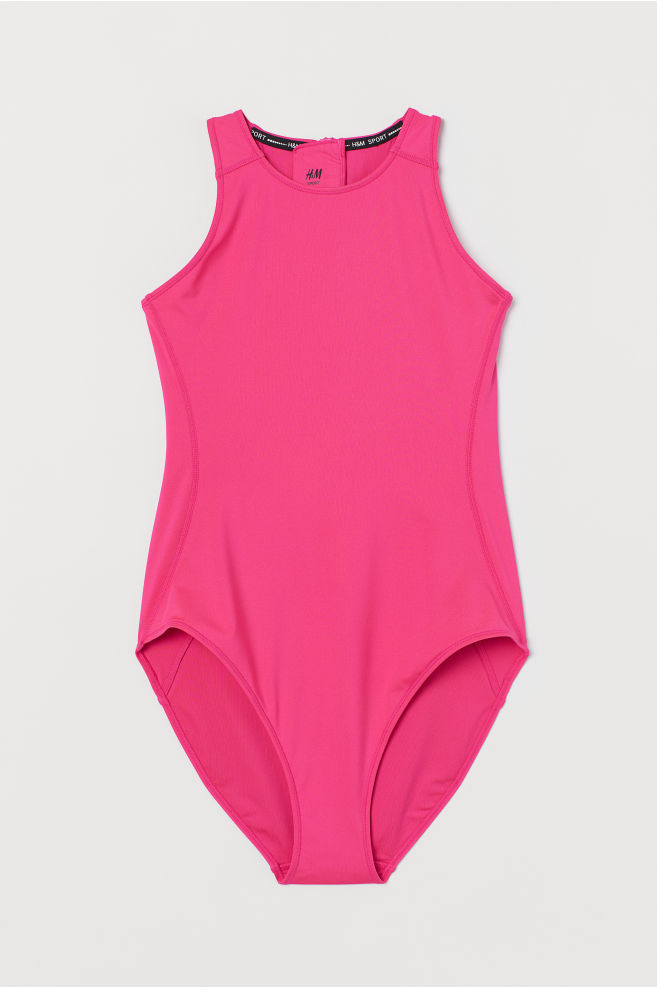 7861d259 ... Sports Swimsuit - Neon pink - Ladies | H&M ...