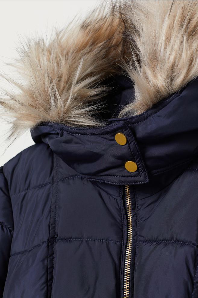 cbfe1d78cb294 MAMA Padded Jacket - Dark blue - Ladies | H&M ...