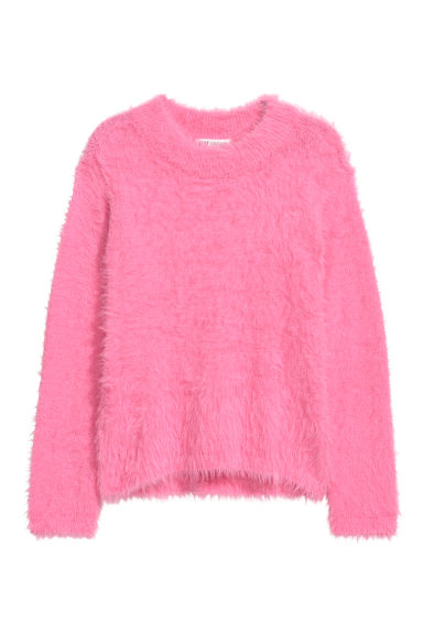 Fluffy jumper - Pink -  | H&M
