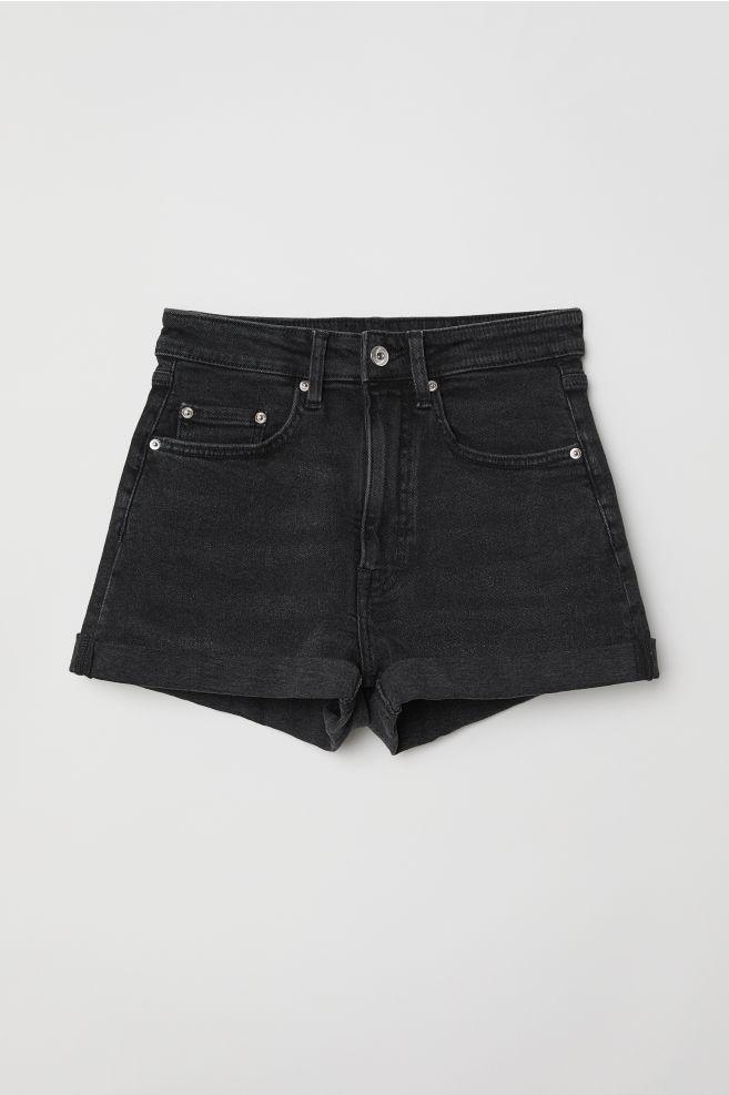 Denim Shorts High Waist - Nearly black - Ladies  411df7927