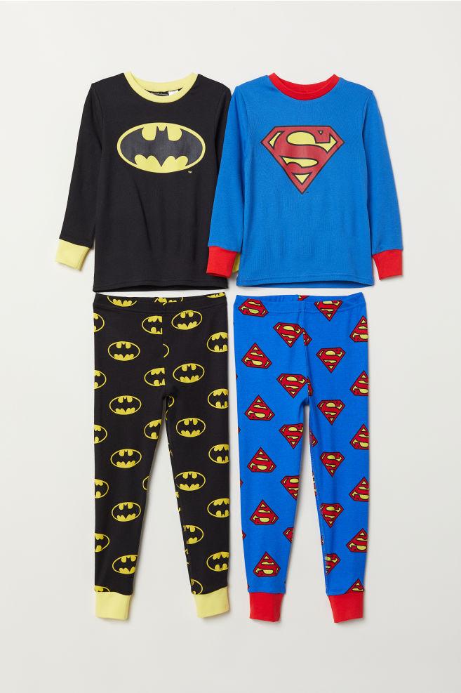 34998c1d4a9e 2-pack Jersey Pajamas - Superman Batman - Kids