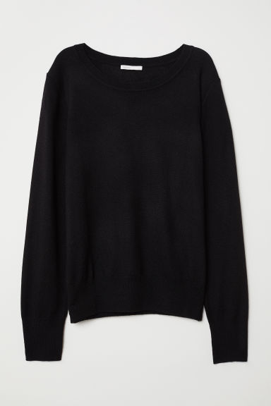 Wool-blend jumper - Black - Ladies | H&M CN
