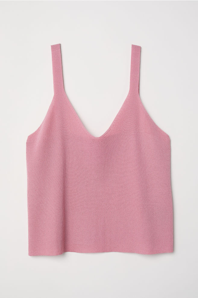 Top in maglia fine - Rosa lampone - DONNA | H&M IT 1
