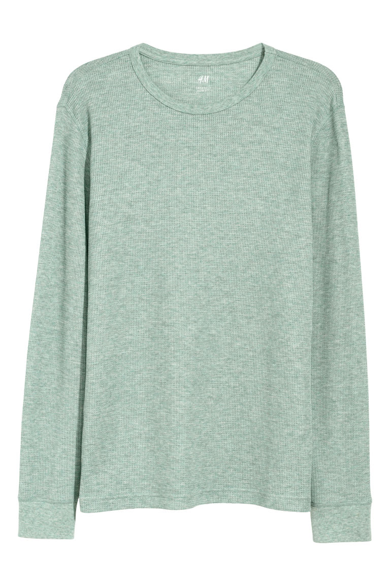 Waffled top - Mint green - Men | H&M CN