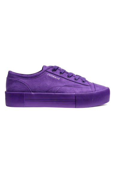 Platform trainers - Purple - Ladies | H&M CN