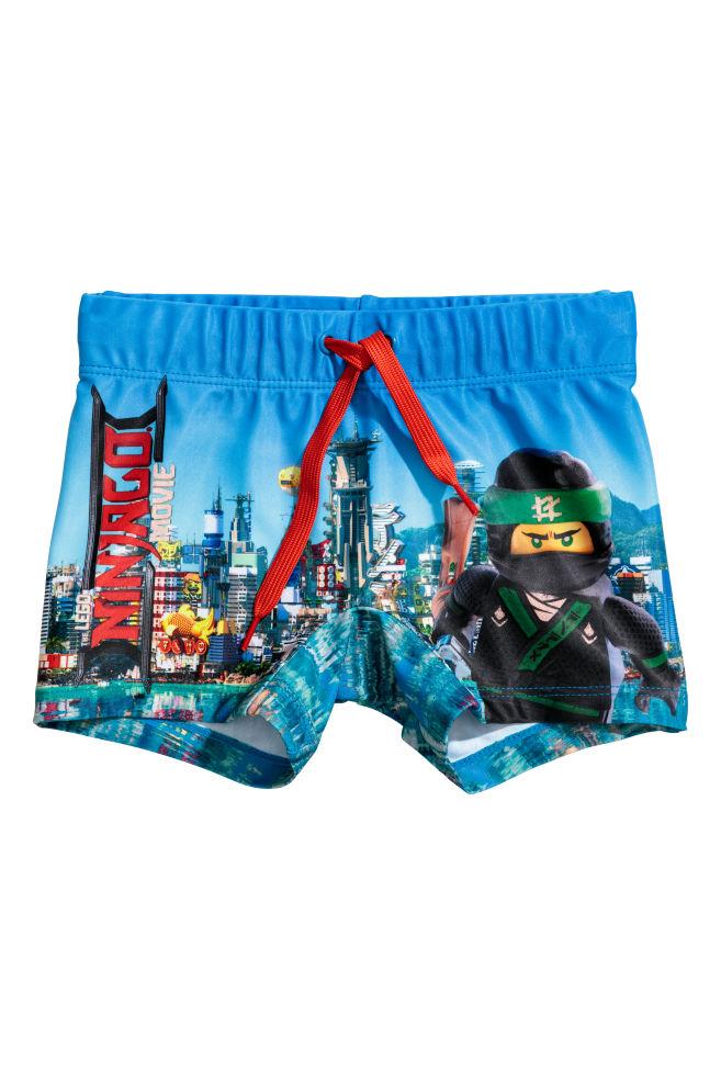 Zwembroek Kind.Zwembroek Met Print Blauw Lego Kinderen H M Nl