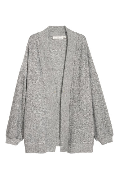Fine-knit cardigan - Light grey -  | H&M CN