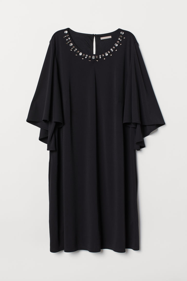 H&M+ Butterfly-sleeved dress - Black - Ladies | H&M
