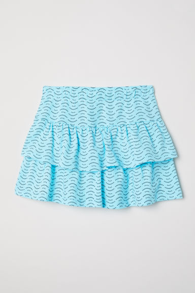 Flounced skirt - Turquoise/Patterned -  | H&M CN