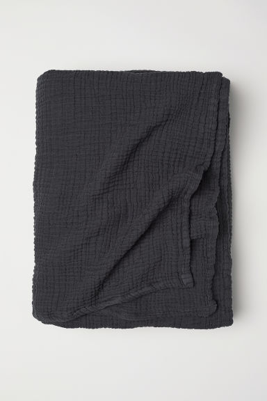 Jeté de lit - Gris anthracite - HOME | H&M BE