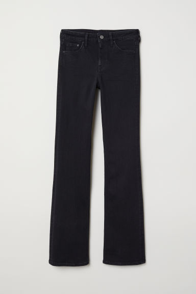 Bootcut Regular Jeans - Black denim - Ladies | H&M