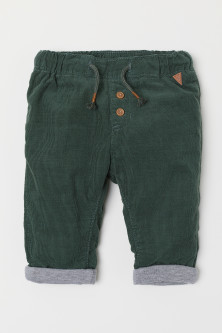 Lined corduroy trousers