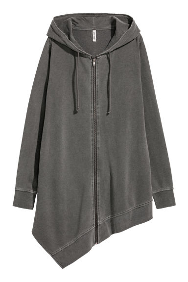 Long hooded jacket - Dark grey - Ladies | H&M