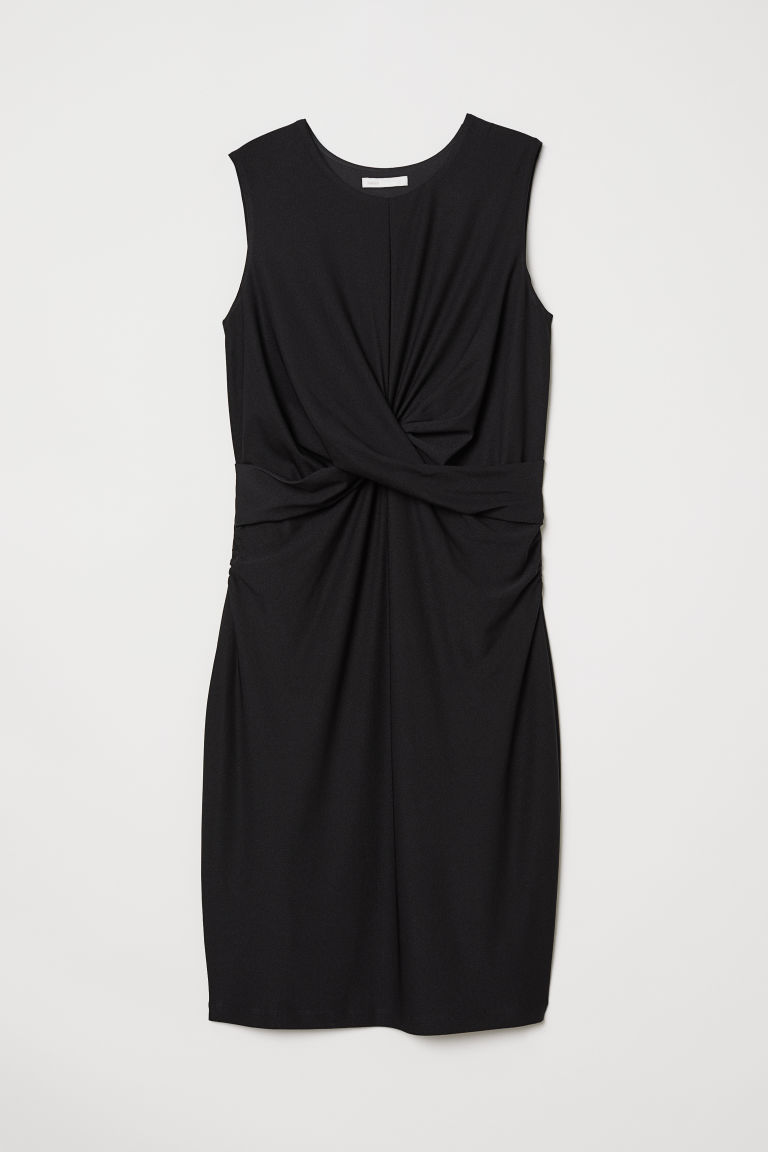 MAMA Draped dress - Black - Ladies | H&M