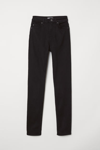 Skinny High Jeans - Zwart - DAMES | H&M BE