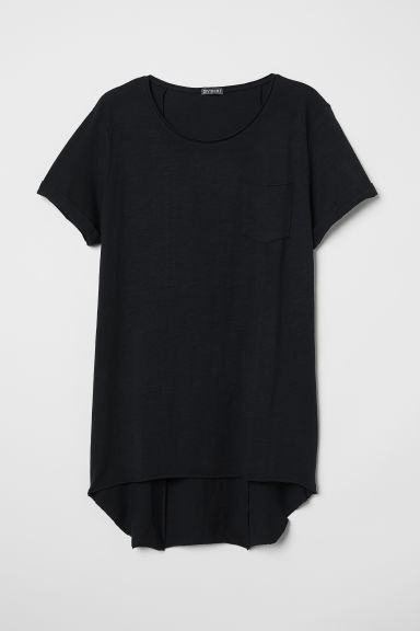 Long T-shirt - Black - Men | H&M IE