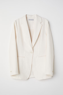 Fitted linen jacketModel