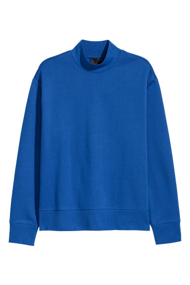 Turtleneck sweatshirt - Cornflower blue - Men | H&M